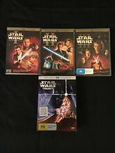 6x Star Wars DVD's Armadale Armadale Area Preview