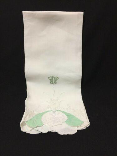 Antique Trousseau Green Applique