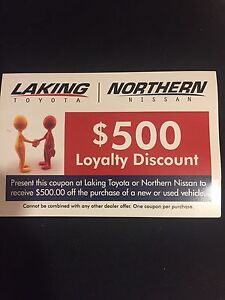 500$ Nissan or Toyota coupon