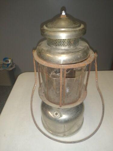 Antique The Air-O-Lantern Colman Wichita Kansas Brass Body Nickel Plated Mica QL