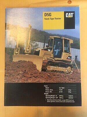 Caterpillar D5g Track-type Tractor Original Sales Brochure Cat Dozer