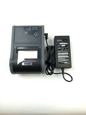 Epson Tm-p60 Bluetooth Portable Pos Thermal Printer M196b Wireless With Cables