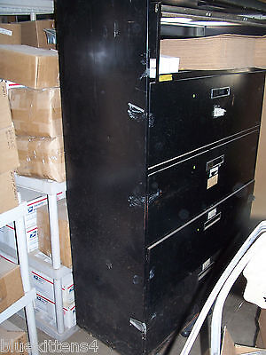 5 Drawer 42 Inch Lateral Office File Cabinet Used Black