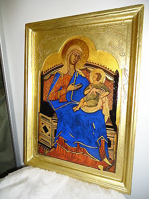 Maesta Maria- Altar Bild - 1308-1311 Original in (Kirche San Domenica in Siena)