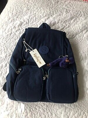 Kipling backpack/bag Navy Blue , Firefly UP dazz ,NEW all tags,
