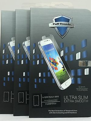 Lots Of 3 Best Premium Tempered Glass Screen Protector Samsung Galaxy (Best Galaxy Note 4 Screen Protectors)
