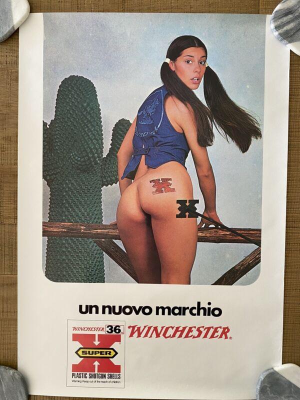 RARE - Vintage Italian Winchester Advertising Poster, Un Nuovo Marchio Super X