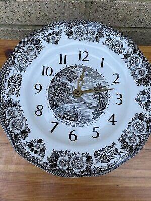 Enoch Wedgewood Tunstall Loch Lomond Ceramic Wall Clock