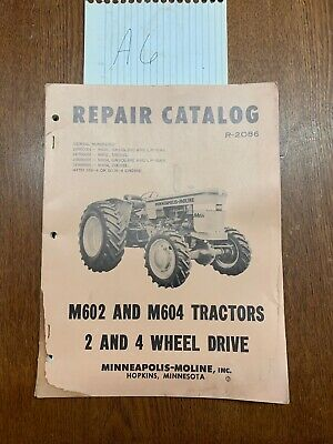 Parts Manual - R602 R604 Minneapolis Moline Original Vintage Oem