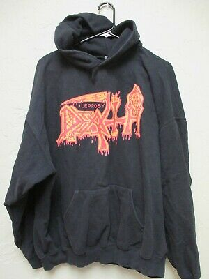 Death Men/'s  Leprosy Zippered Hooded Sweatshirt Black Rockabilia