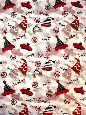 Tissue Paper Winter Hats Christmas Holiday Gift Satin Wrap 20 x 30 200 sheets