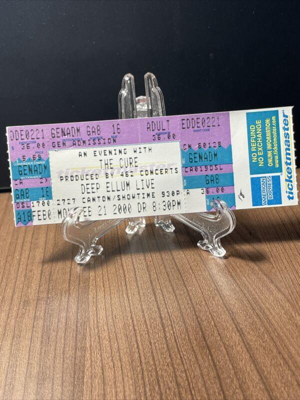 The Cure Concert Ticket Unused Vintage February 21 2000 at Deep Ellum