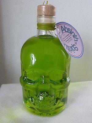 Totenkopf Flasche - mit Absinth - 55%vol - 500ml -  Piratenflasche, Grüne Fee