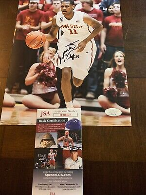 MONTE MORRIS SIGNED 8x10 PHOTO IOWA STATE CYCLONES POINT GUARD JSA RARE