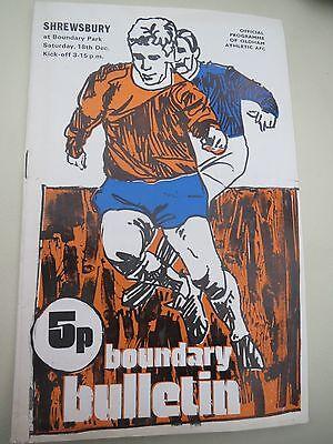 Oldham V Shrewsbury       1971/2