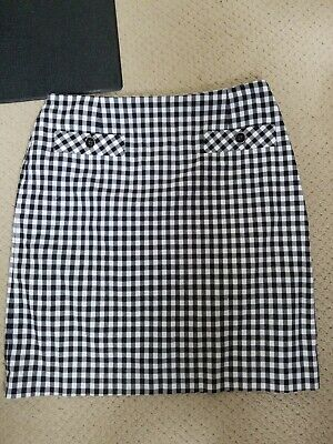 Elliott Lauren Black And White Checkered Skirt. Size 12
