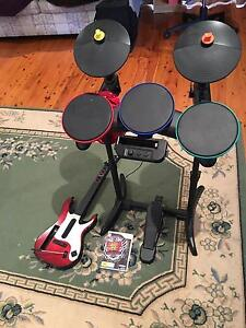Guitar hero game, drums and guitar for Wii Wilberforce Hawkesbury Area Preview