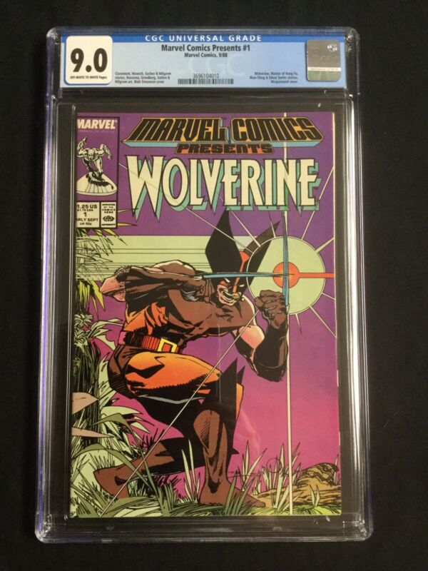 MARVEL COMICS PRESENTS #1 Wolverine (CGC 9.0)