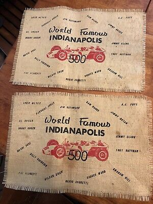 Vintage Indy 500 Placemat Indianapolis Race Car