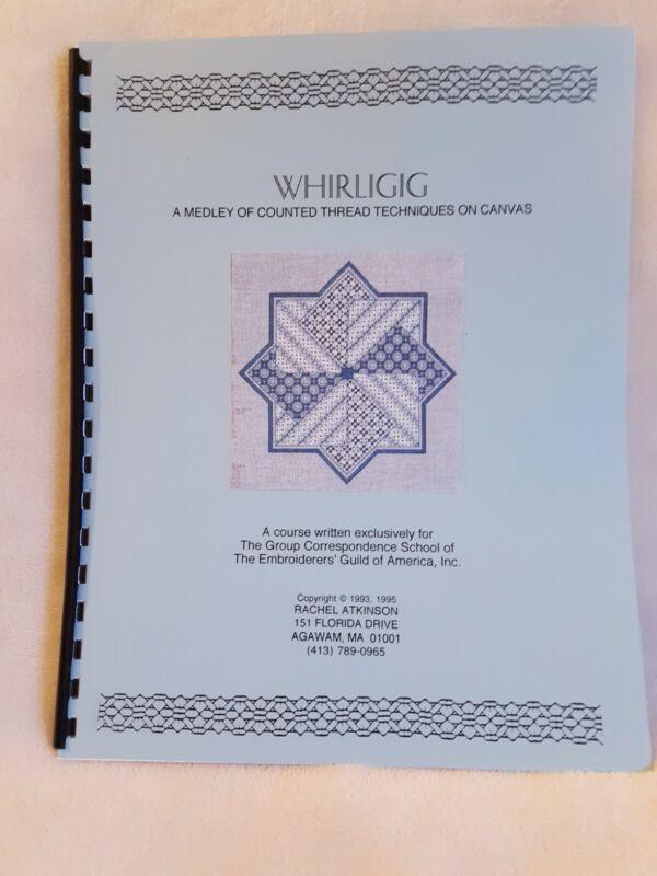 Whirligig Road map booklet Needlepoint Technique booklet pulled work blackwork