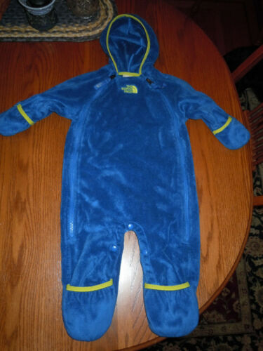 THE NORTH FACE Buttery Fleece Bunting Baby Infant 6 - 12 Months Boys Blue Yellow