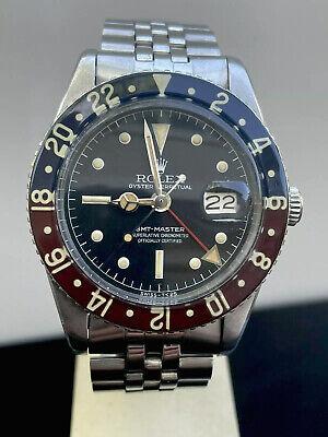Vintage Rolex Automatic GMT Master 6542 1957 Pepsi Jubilee Bracelet NO RESERVE