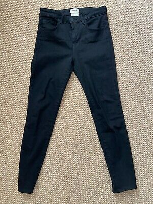 L'Agence Margot High Rise Skinny Jeans in Noir--Size 26