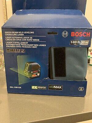 Bosch GLL 100 GX Green Beam Self- Leveling Laser NEW