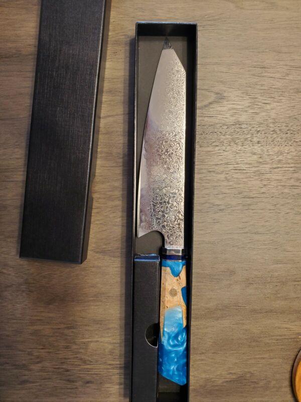 JAPANESE 8 INCH VG10 67 LAYER DAMASCUS CHEF KITCHEN KNIFE RESIN HANDLE SANTOKU
