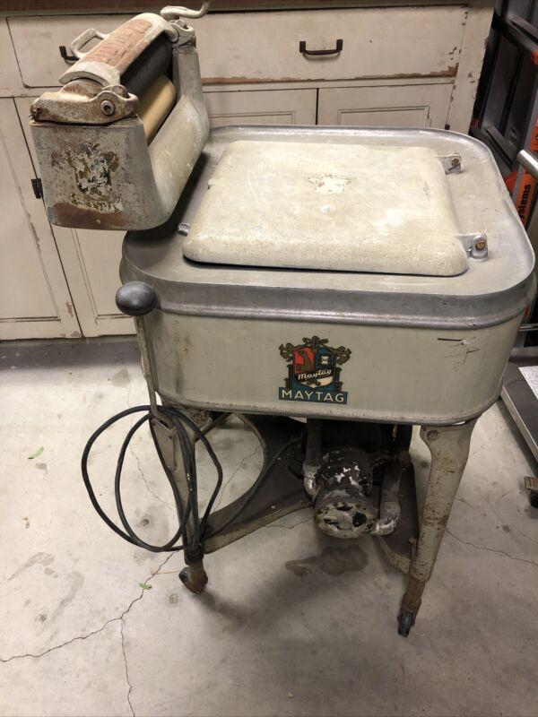 Antique Maytag Electric Gyrator Washer Washing Machine Model 30 WP motor 7170