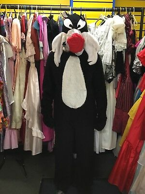Mens Adult Sylvester Cat Cosplay Mascot Fancy Dress Costume Size Large Ex hire - Mascot Costume Hire