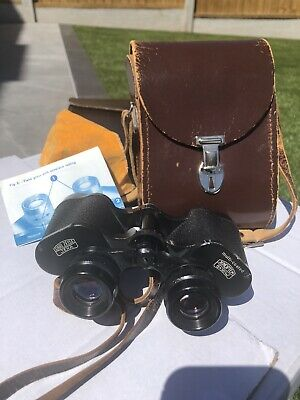 CARL ZEISS JENA 8x30w JENOPTEM BINOCULARS AND CASE