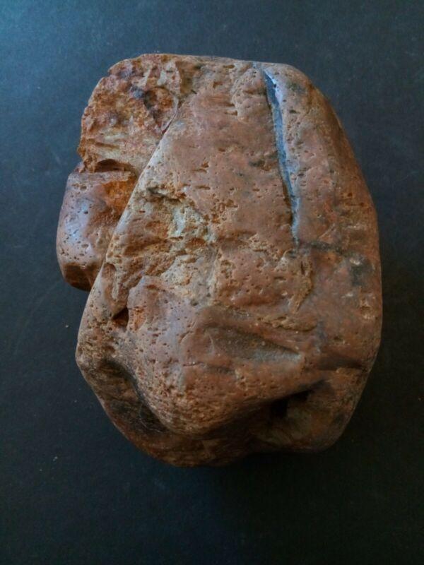 Prehistoric Native American rock art hand tool.