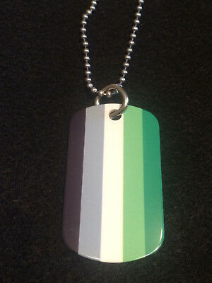 Aromantic 2-Sided Color Photo Dog Tag Necklace / Keychain (Lesbian/LGBT/Gay)