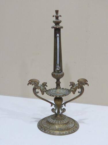 Rare Antique Bronze Art Desk Thermometer
