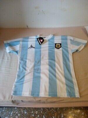 Maglia Argentina Maradona Shirt Camiseta Trikot Vintage Le Coq Sportif NO REPLY