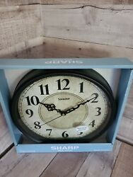 Sharp Wall Clock Black Vintage Style farmhouse country antique old world New