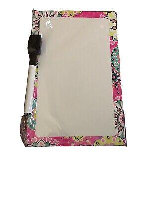 Pink Floral Dry Erase Board With Marker Erasure - 8.5 X 5.5