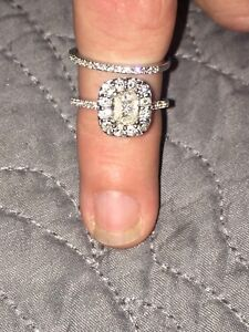 1ct diamond engagement set