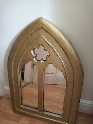 Beautiful Gothic mirror solid painted wood Good condition PICK UP ONLY