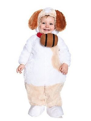 Nemo Dog Costume (Baby Toddler Underwraps St Bernard Dog Plush Costume Size M 18/24)