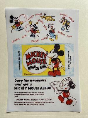 1937 Gum Inc Mickey Mouse Disney Wax Wrapper Print