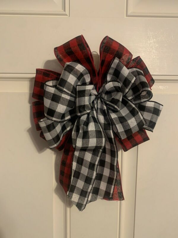 Farmhouse Buffalo Check Bow