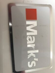 Marks gift card, $50