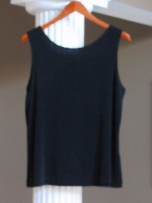 Chico's Travelers Black Wear it Two Ways Tank Top Shell Cami Size 2 (12-14) NEW