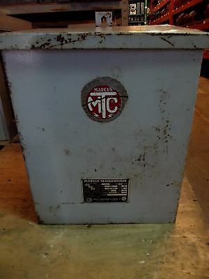 Marcus Dry Indoor Transformer 10kva 440460480 - 120240 1ph