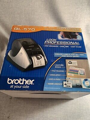 Brother Ql-570 Professional High Resolution Thermal Label Printer New In Box