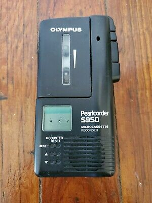 Olympus Pearlcorder S950 Microcassette Voice Recorder Working