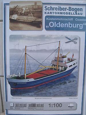 Küstenmotorschiff Oldenburg Schiff Kartonbausatz *NEU* Schreiber- Bastelbogen
