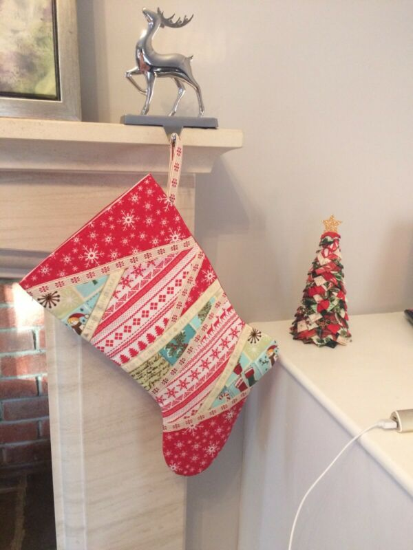 Handmade+Traditional+Red+Quilted+Christmas+Stocking
